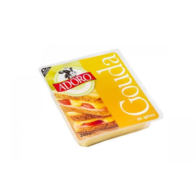 ADORO GOUDA SLICES 200g