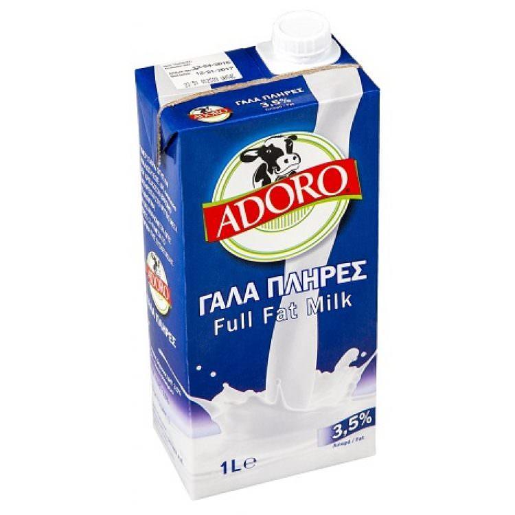 ADORO LONG LIFE FULL FAT MILK 1L