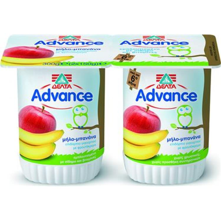 ADVANCE WITH BANANA & APPLE 300g (2Χ150g)