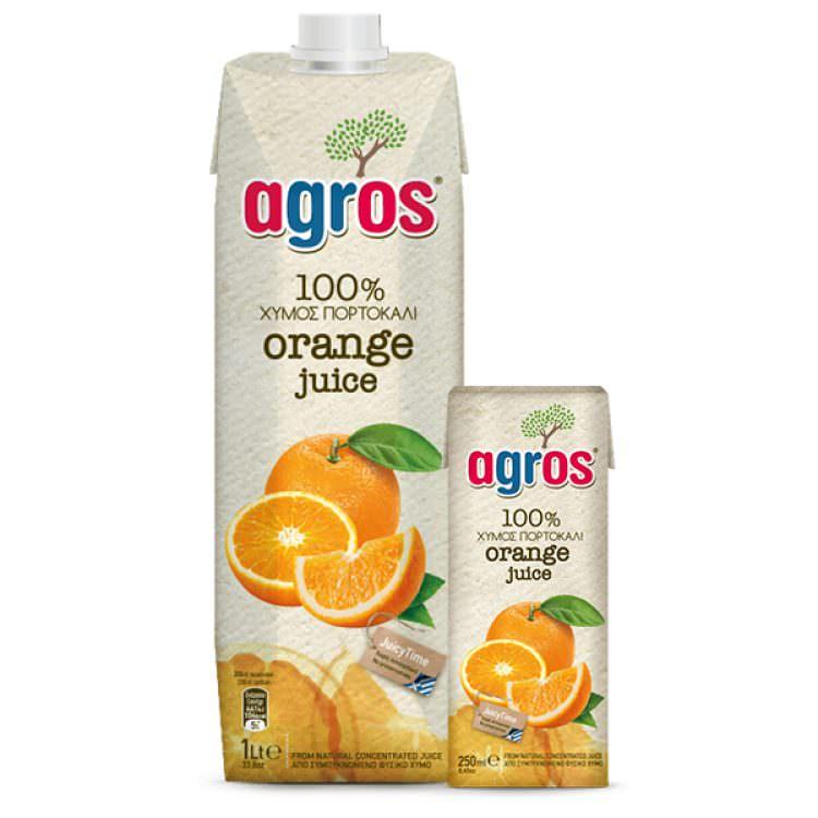 AGROS 100% ORANGE JUICE 1L