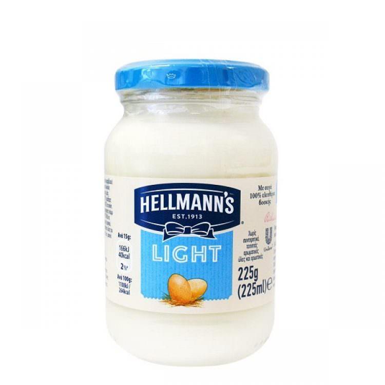 HELLMAN LIGHT MAYONNAISE 225g (VEGETERIAN)