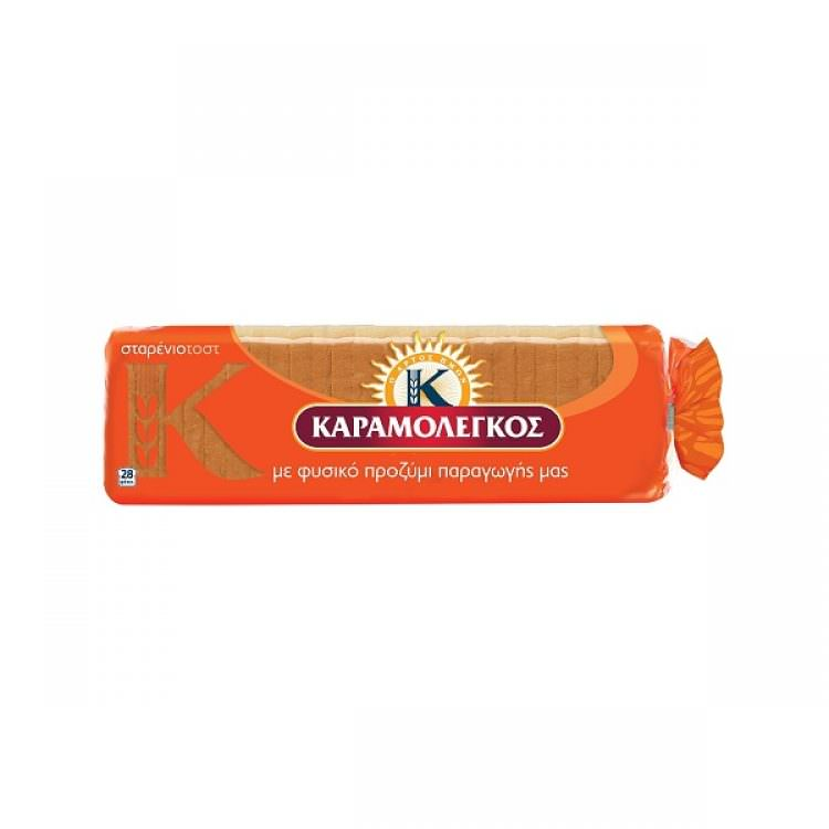 KARAMOLEGOS SLICED WHEAT BREAD 680g