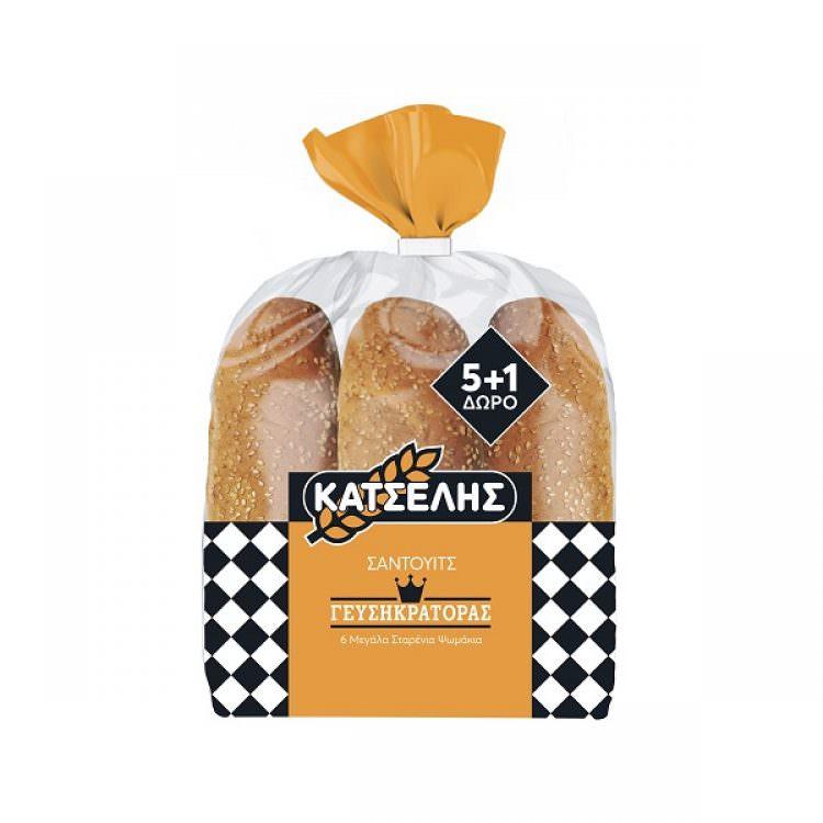 KATSELIS SANDWICH BREAD (WHEAT BUNS) 564g