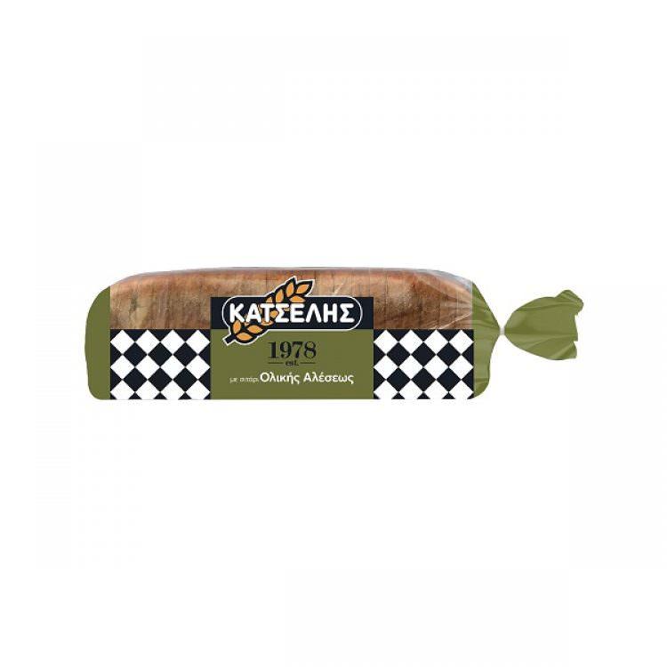 KATSELIS SLICED WHEAT BREAD 720g