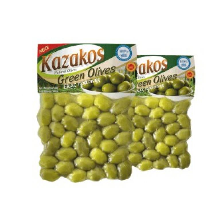 KAZAKOS GREEN OLIVES 250g