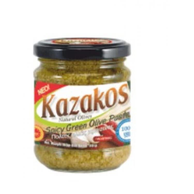 KAZAKOS GREEN OLIVES SPICY PASTE 180g