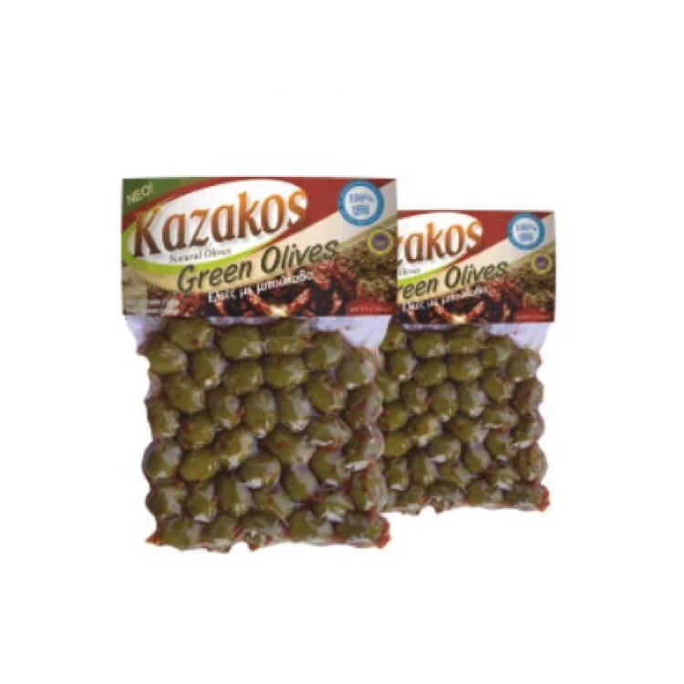KAZAKOS GREEN OLIVES WITH CHILLI 250g