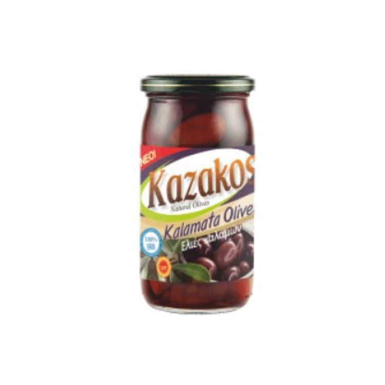 KAZAKOS KALAMATA OLIVES IN JAR 215g