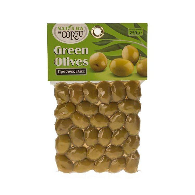 NATURA OF CORFU GREEN OLIVES WITH OREGANO 250g