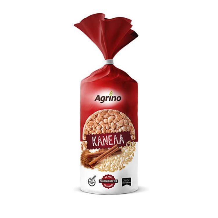 AGRINO RICE CAKES CINNAMON GLUTEN FREE 120g
