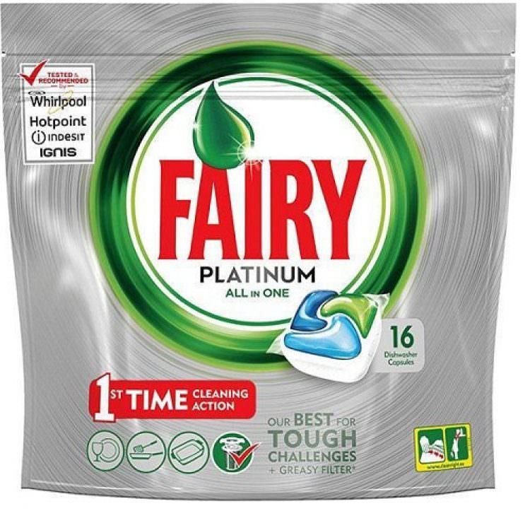 FAIRY PLATINUM ALL IN ONE DISHWASHER CAPSULES (16pcs)