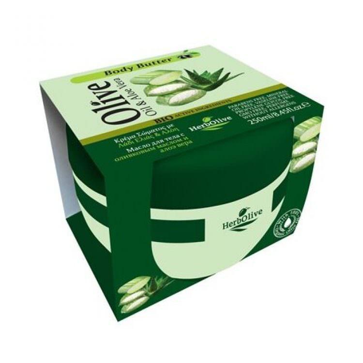 HERBOLIVE BODY BUTTER OIL & ALOE VERA 250ml