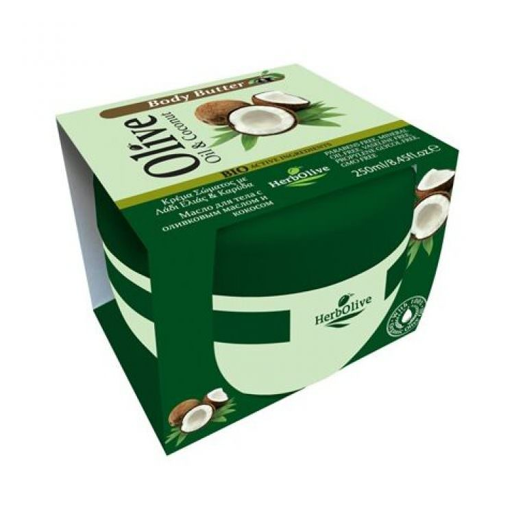 HERBOLIVE BODY BUTTER OIL & COCNUT 250ml