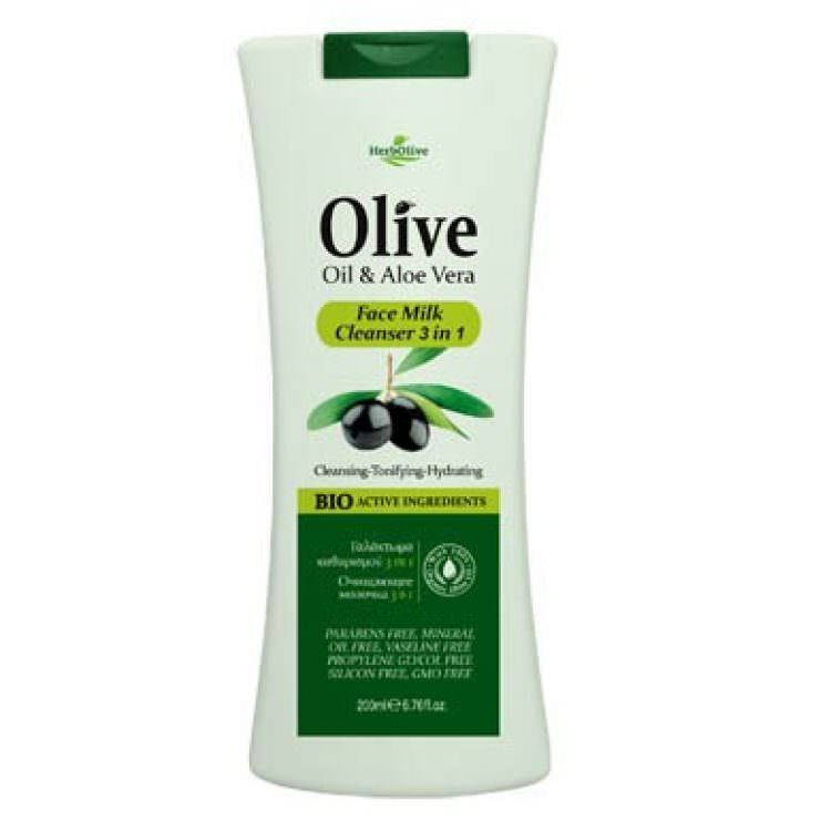 HERBOLIVE FACE MILK CLEANSER 3 IN 1 200ml