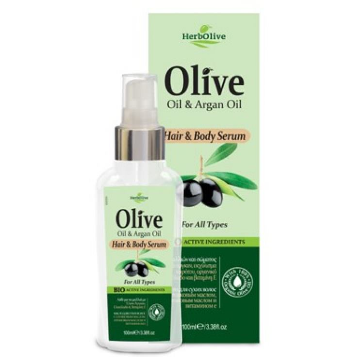 HERBOLIVE HAIR &BODY SERUM FOR ALL TYPES 100ml