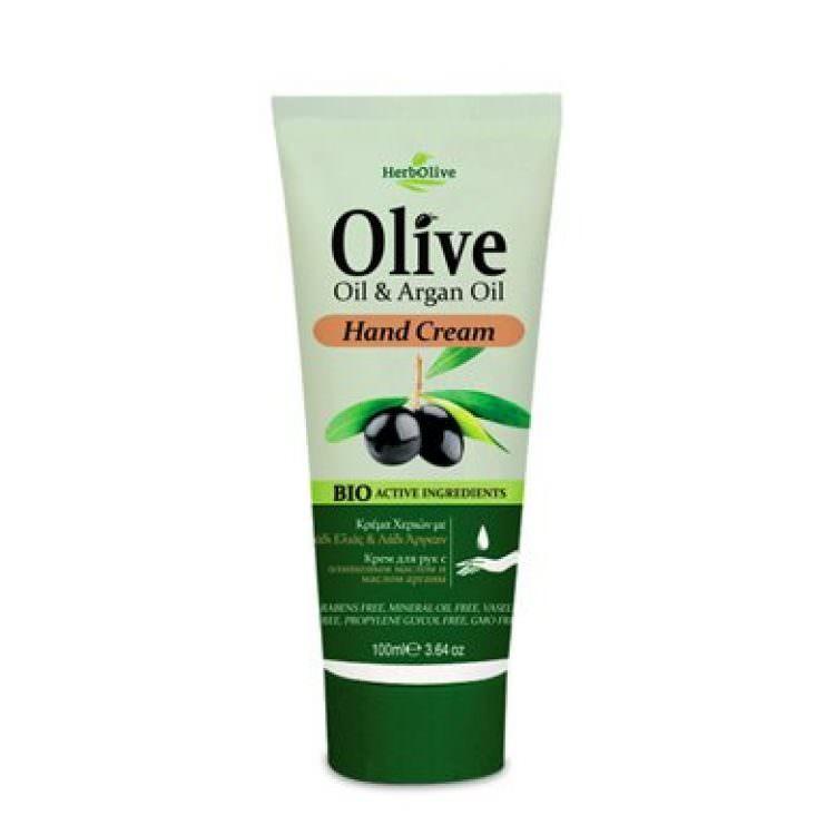 HERBOLIVE HAND CREAM OLIVE & ARGAN OIL 100ml