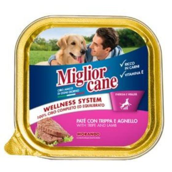 MIGLIOR CANE DOG FOOD PATE WITH TRIPE & LAMB 300g