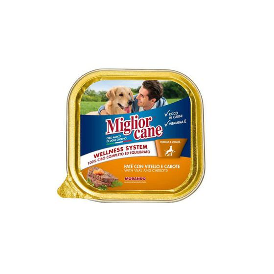 MIGLIOR CANE DOG FOOD PATE WITH VEAL & CARROTS 300g