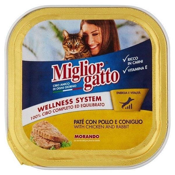 MIGLIOR GATTO CAT FOOD PATE CHICKEN RABBIT100