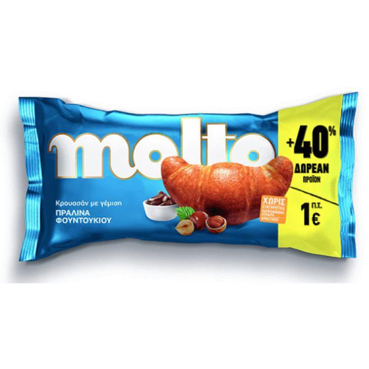 MOLTO CROISSANT HAZELNUT PRALINE 110G
