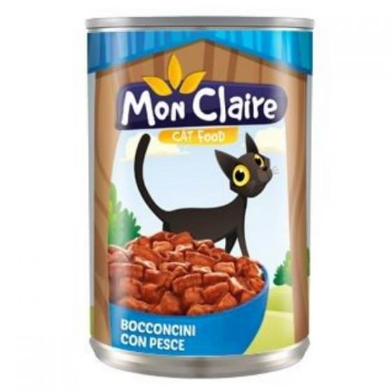 MON CLAIRE CAT FOOD MORSELS WITH FISH 405g