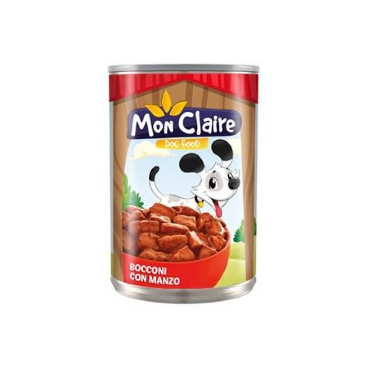 MON CLAIRE DOG FOOD MORSELS WITH BEEF 405g