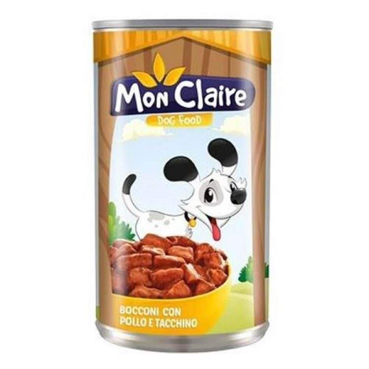 MON CLAIRE DOG FOOD MORSELS WITH CHICKEN TURKEY 405g