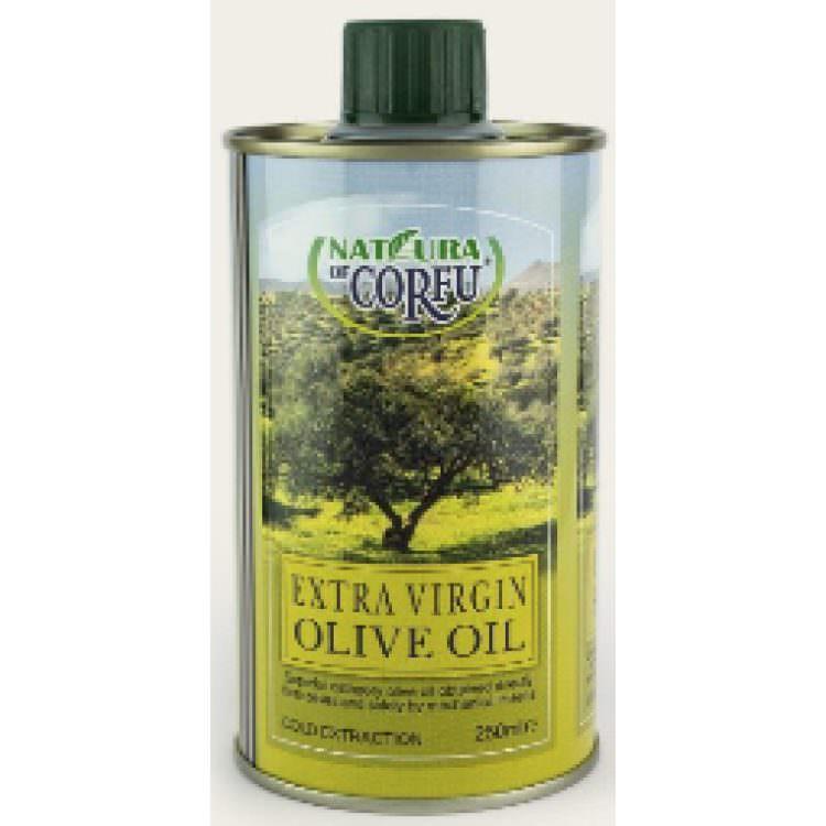 NATURA OF CORFU EXTRA VIRGIN OLIVE OIL 250ML TIN