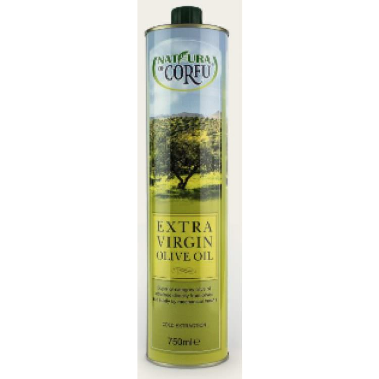 NATURA OF CORFU EXTRA VIRGIN OLIVE OIL 750ML TIN