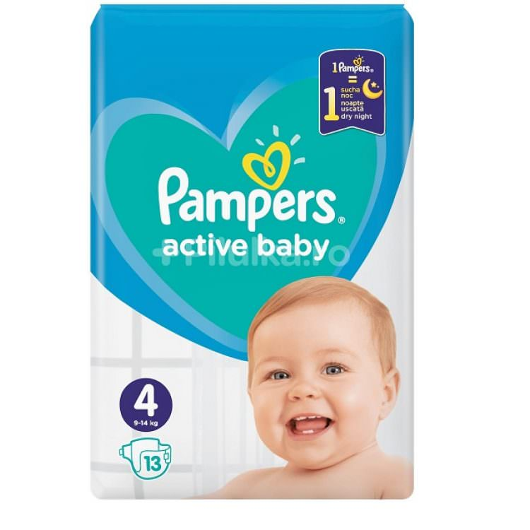 PAMPERS ACTIVE BABY No 4 9-14Kg (13pcs)