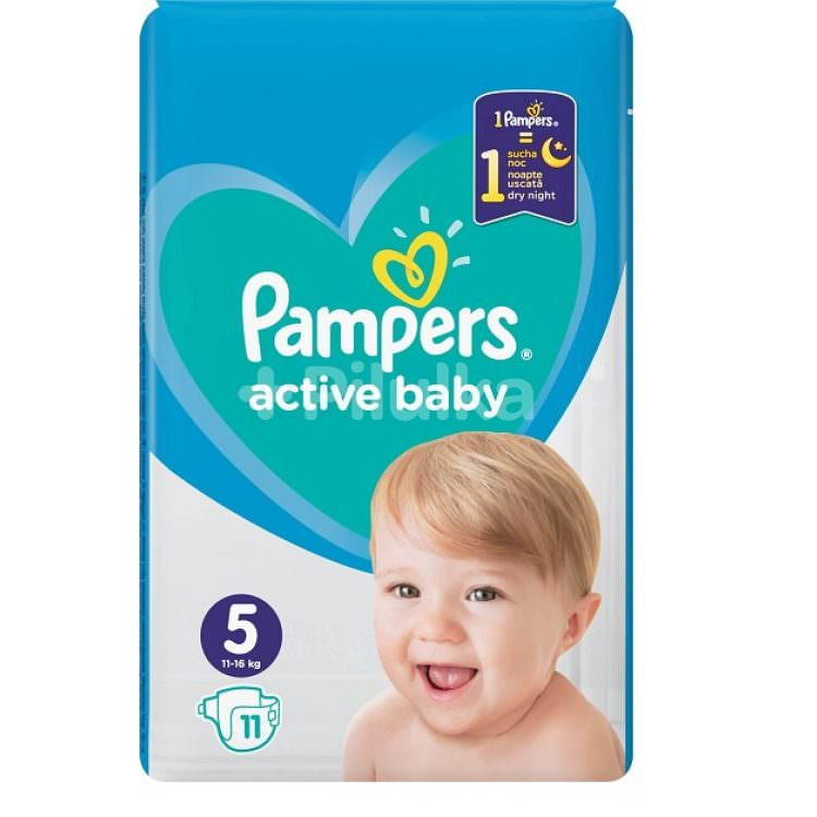 PAMPERS ACTIVE BABY No 5 11-16Kg (11pcs)