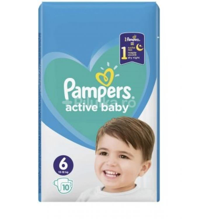 PAMPERS ACTIVE BABY No 6 13-18Kg (10pcs)