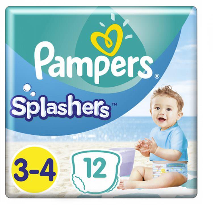 PAMPERS SPLASHERS (DISPOSABLE SWIM PANTS) No3-4 6-11Kg (12pcs)