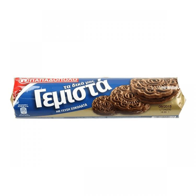 PAPADOPOULOU FILLED BISCUITS WITH CHOCOLATE CREAM 200g