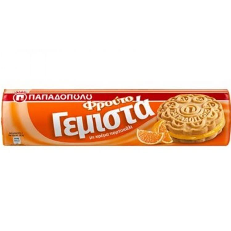 PAPADOPOULOU FILLED BISCUITS WITH ORANGE CREAM 200g