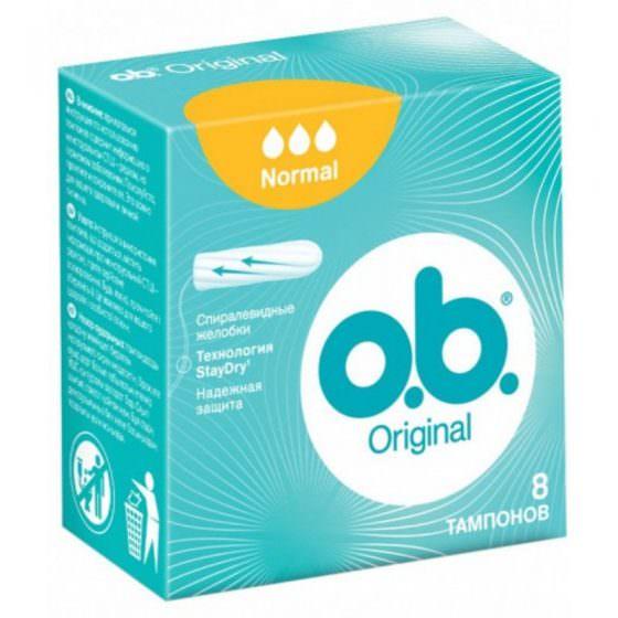 O.B. Original Normal Ταμπόν 8 Τεμάχια