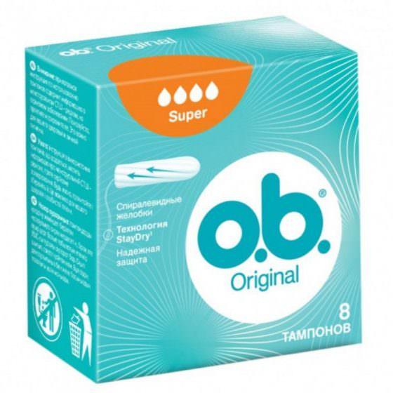 O.B. Original Super Ταμπόν 8 Τεμάχια