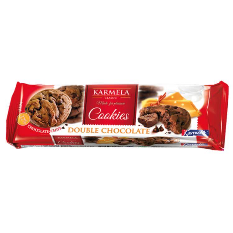KARMELA COOKIES DOUBLE CHOCOLATE 150G