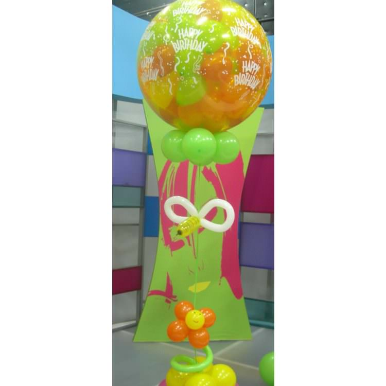 Large balloon with twenty balloons inside