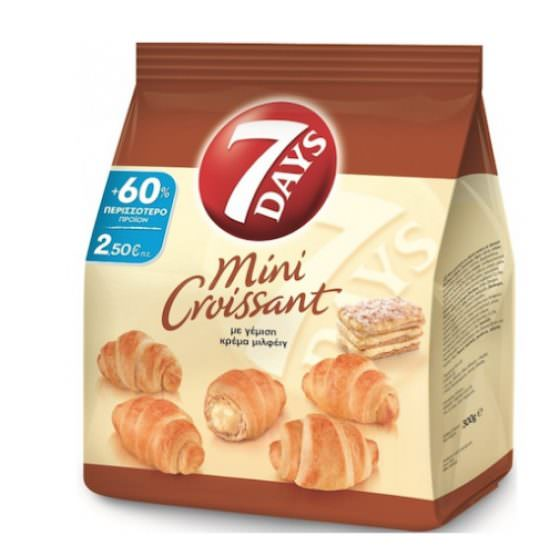 7DAYS MINI CROISSANTS WITH MILLEFEUILLE CREAM 300G