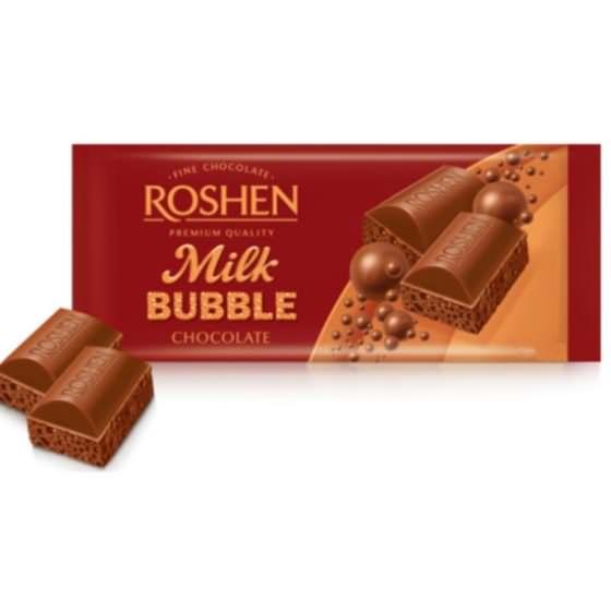 ROSHEN MILK BUBBLE CHOCOLATE 80G