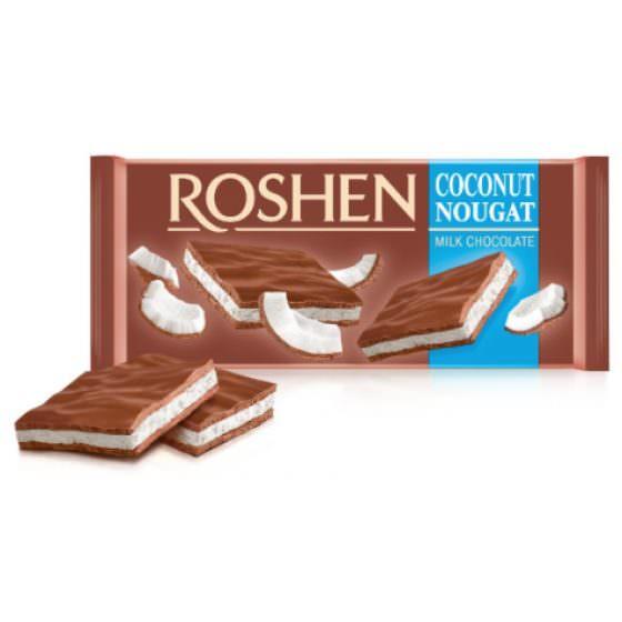 ROSHEN MILK CHOCOLATE COCONUT NOUGAT 90G