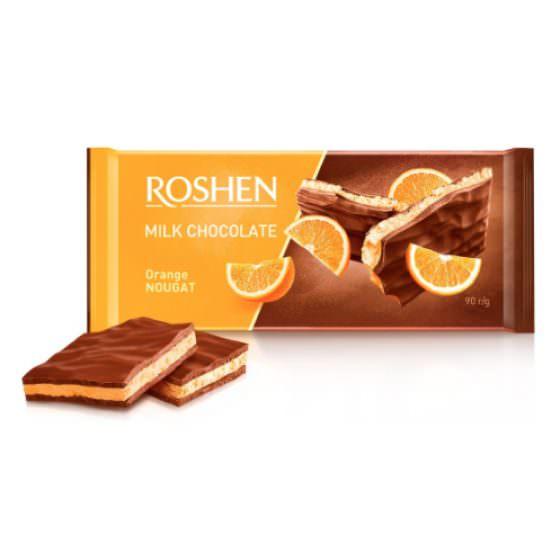 ROSHEN MILK CHOCOLATE ORANGE NOUGAT 90G